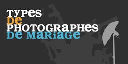 Type de photographes de mariage